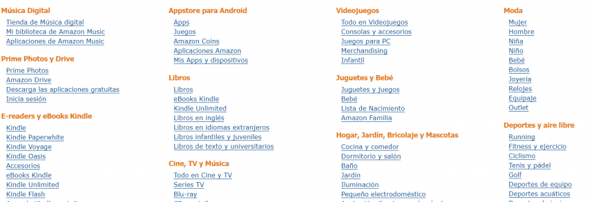 Clasificación de productos de Amazon