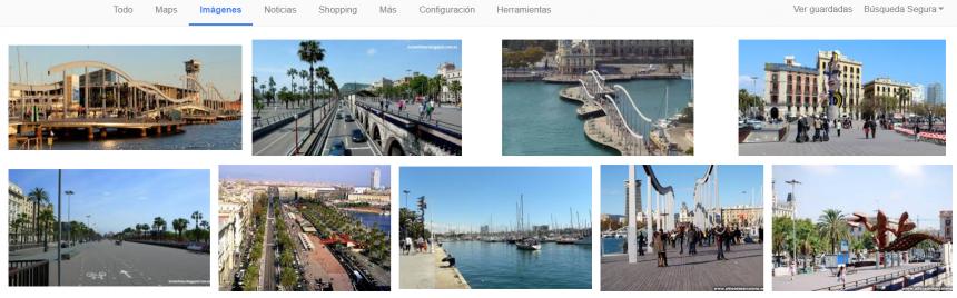 Imágenes y metadatos en la página de resultados de Google