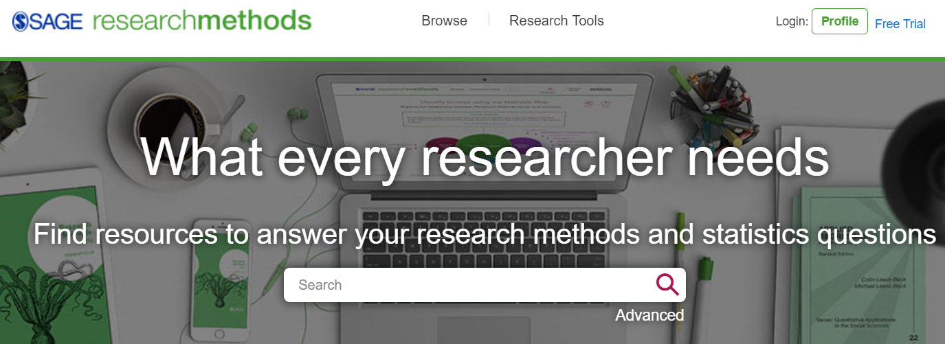 Sitio web de Sage Research Methods