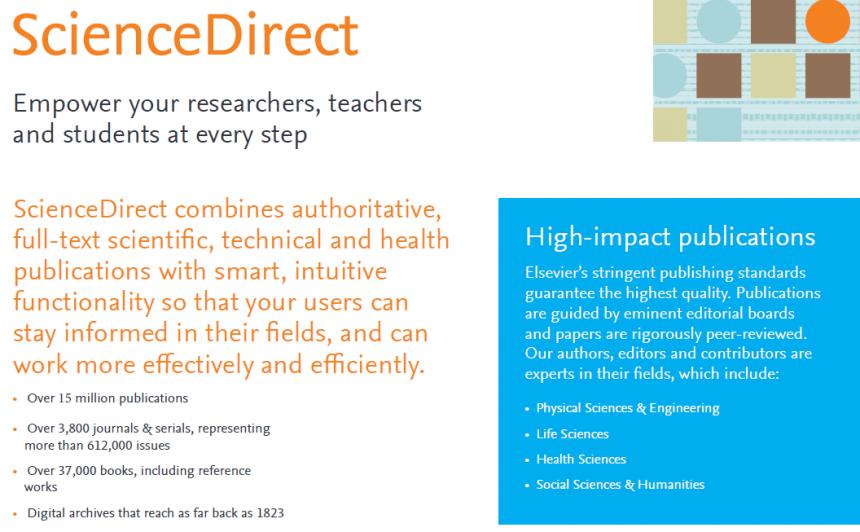 Datos de contenido de Science Direct