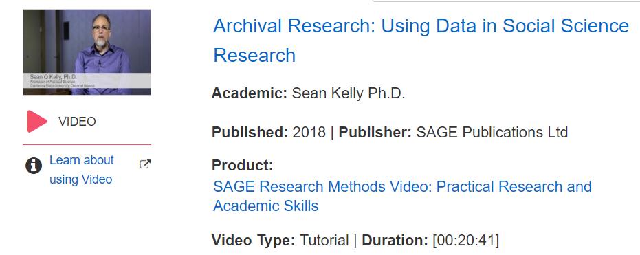 Vídeos intruccionales en métodos de investigación