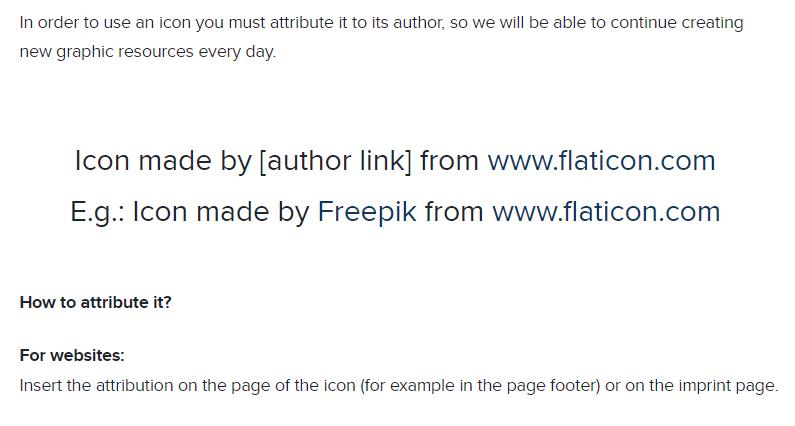 Licencia de uso gratuito del bancos de iconos Flaticon