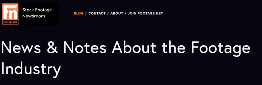 Sitio web de Stock Footage Newsroom