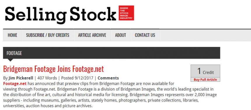 Sitio web de Selling Stock