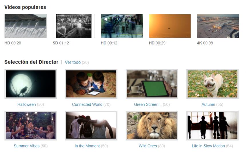 Navegación por las colecciones de vídeo