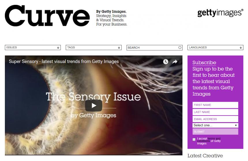 Sitio web de Curve