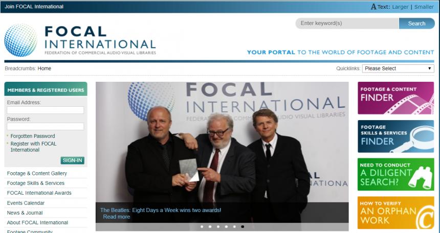 Sitio web Focal International