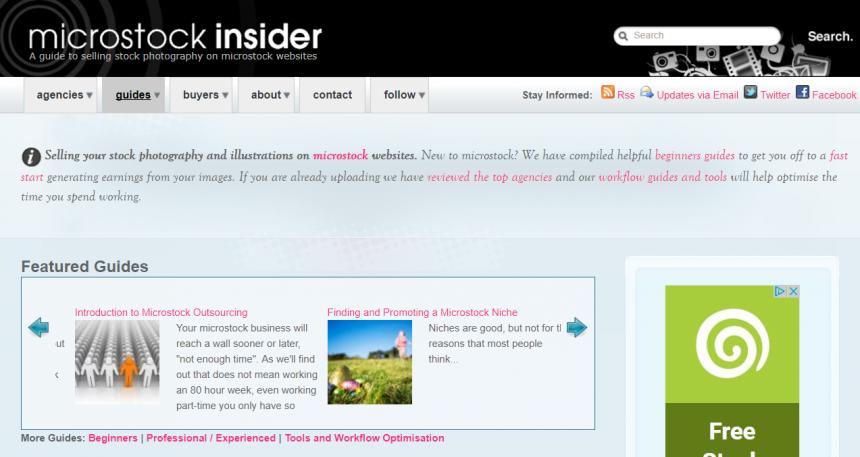 Sitio web de Microstock Insider