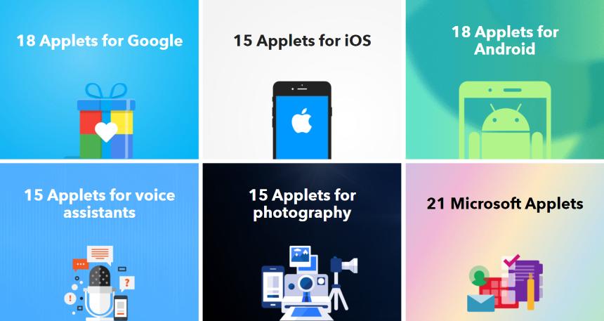 Colecciones de applets de IFTTT