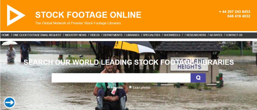 Sitio web de Stock Footage Online