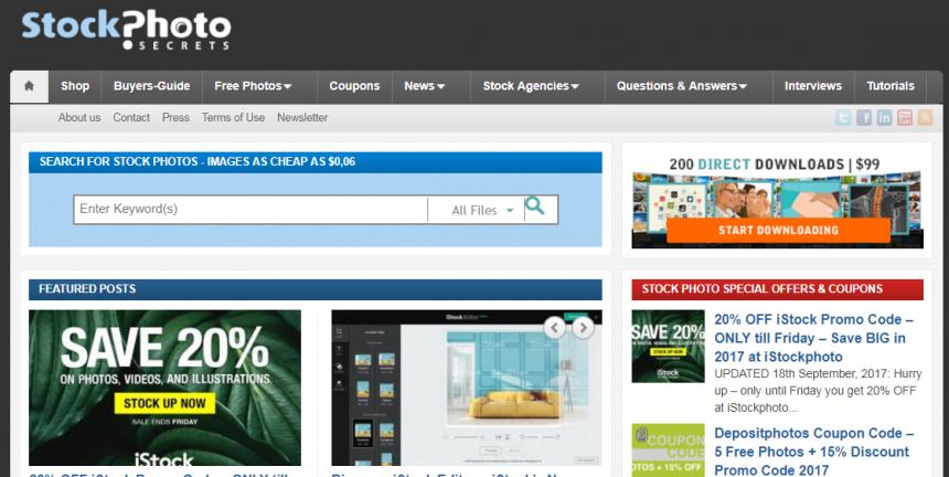 Sitio web de Stock Photo Secrets