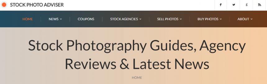 Sitio web Stock Photo Adviser