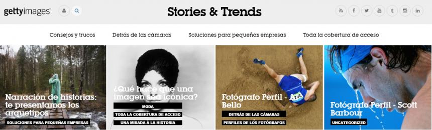 Sitio web Stories & Trends