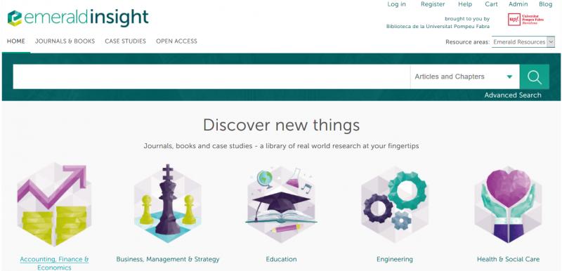 Emerald Insight: sitio web