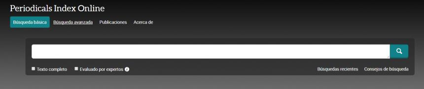 Periodicals Index Online (PIO)