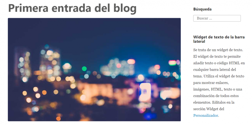 Una entrada en WordPress
