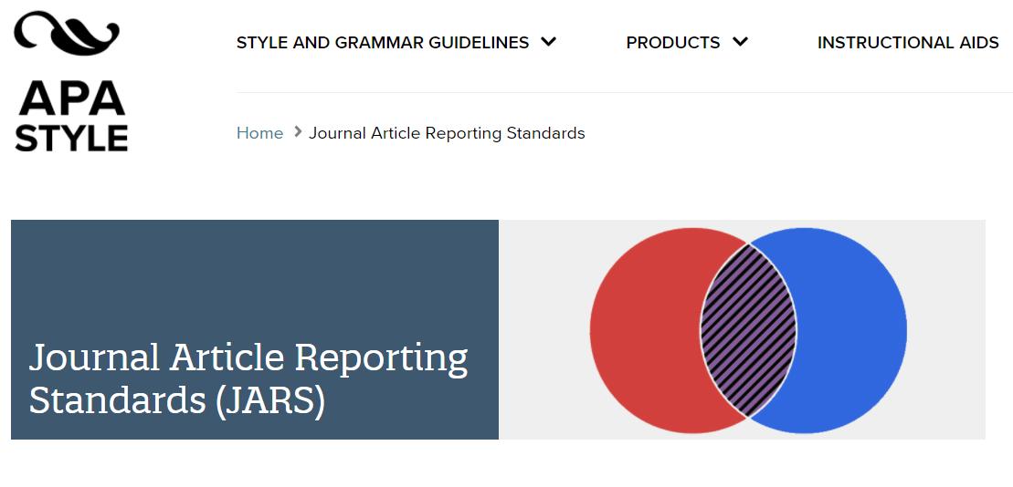 Sitio web de los JARS (APA Style)
