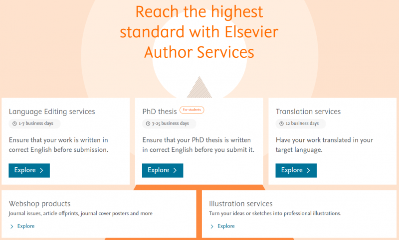 Elsevier. Servicios para autores