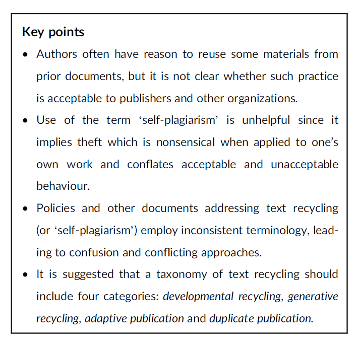 Text-recycling