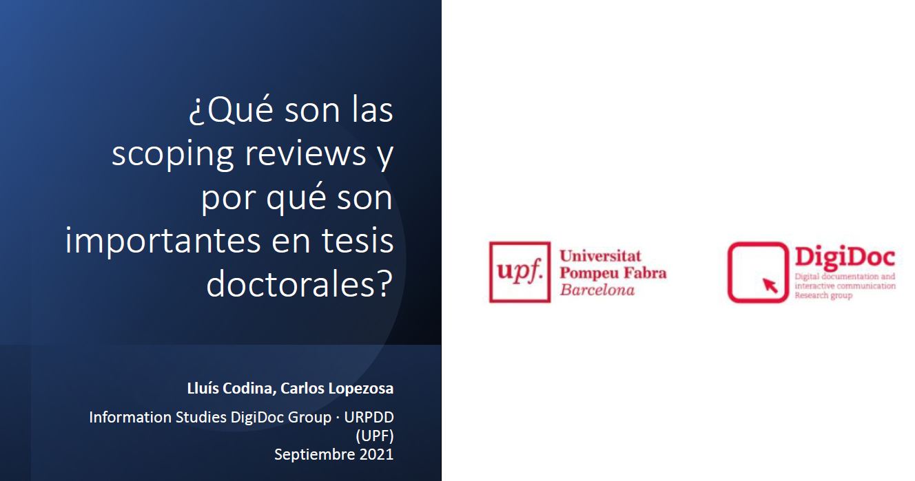 Scoping reviews - Cubierta de la presentación en pdf