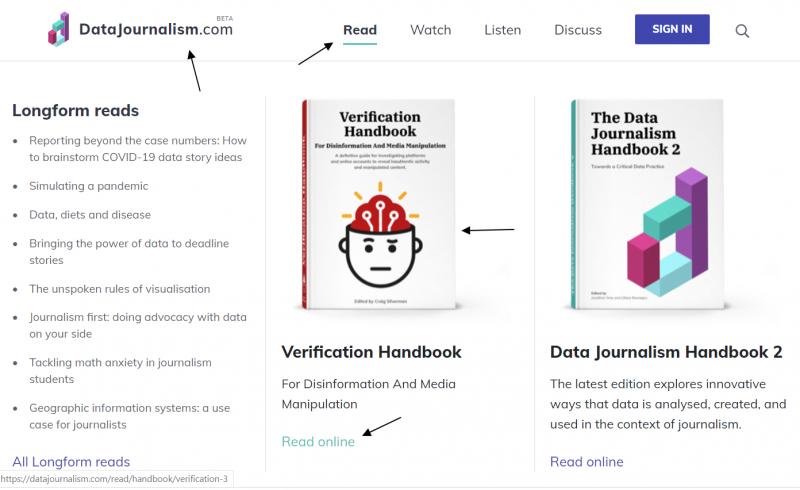 Libros electrónicos en el portal Datajournalism